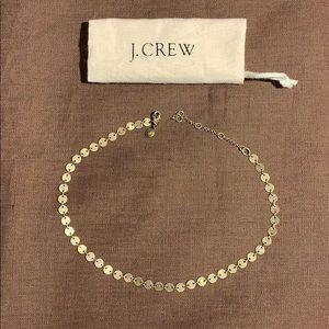 J Crew medallion/coin necklace bronze/copper 17 in